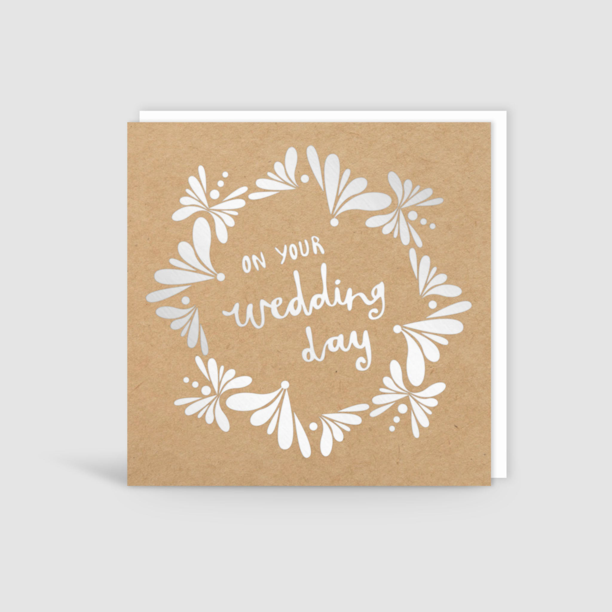 On Your Wedding Day Silver Foil Card