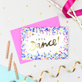 Let's Dance! Confetti Card