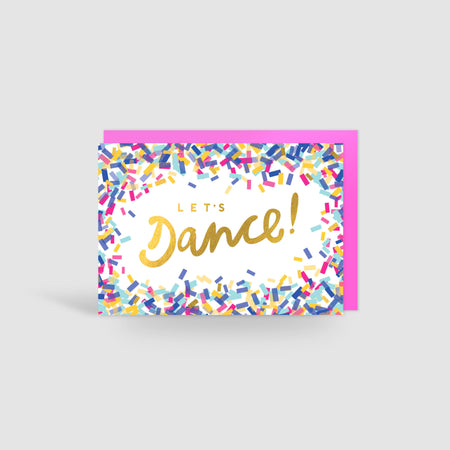 It's Cocktail Time! Gold Foil Card
