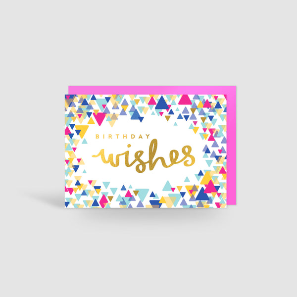Birthday Wishes! Gold Foil Card