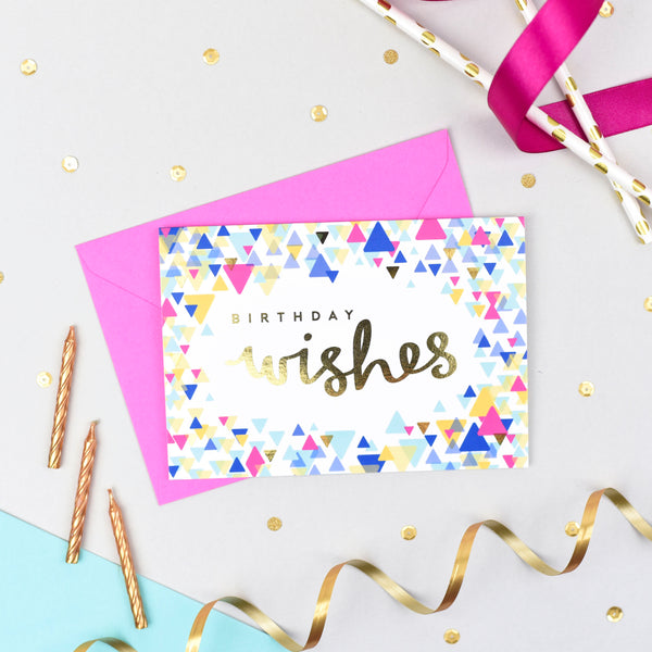 Birthday Wishes! Confetti Card
