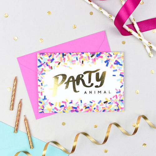 Party Animal! Gold Foil Card