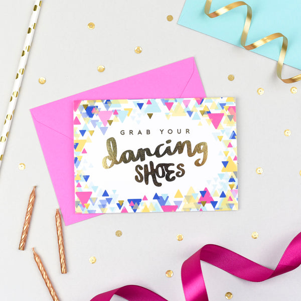 Grab your Dancing Shoes! Gold Foil Card