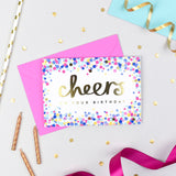 Cheers on your Birthday! Confetti Card
