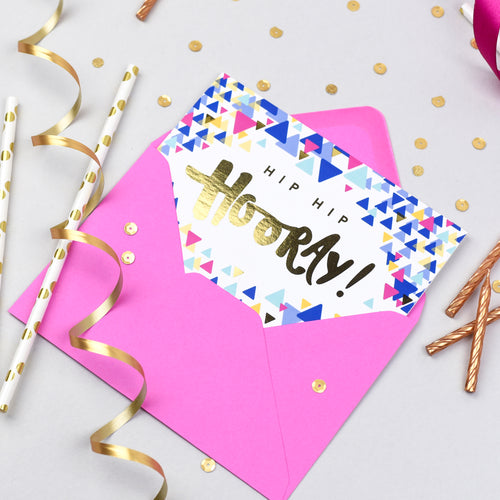 Hip Hip Hooray! Confetti Card