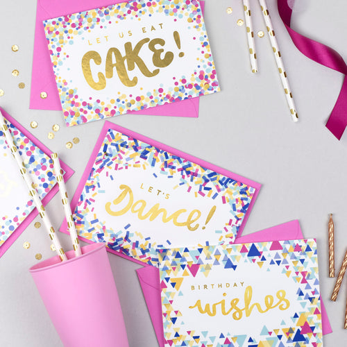 Let Us Eat Cake! Gold Foil Card