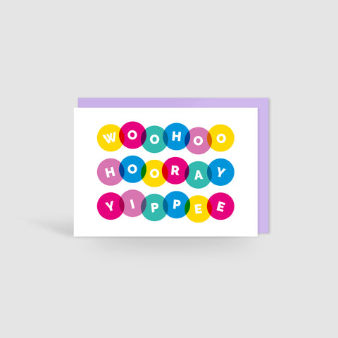 Woohoo Hooray Yippee! Celebration Card