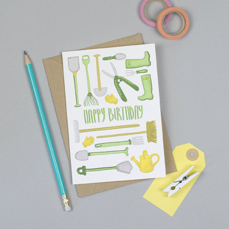 Gardening Birthday Card Jane Katherine Houghton Designs