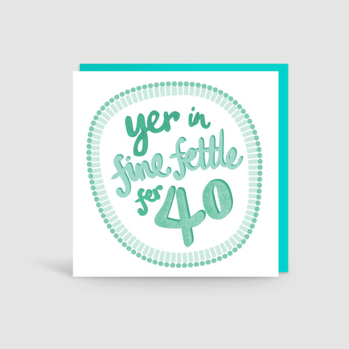 40th Birthday Yorkshire Card