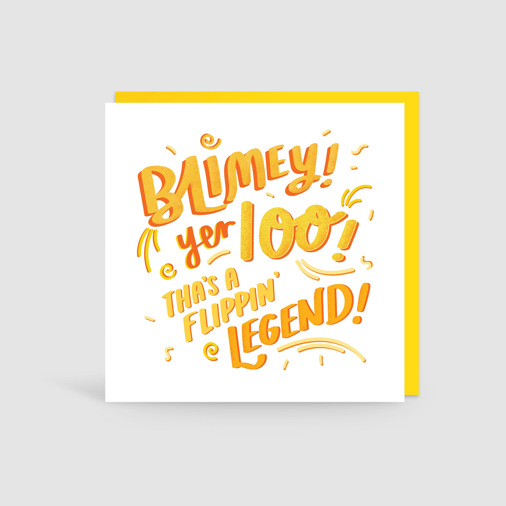 100th Birthday Yorkshire Card