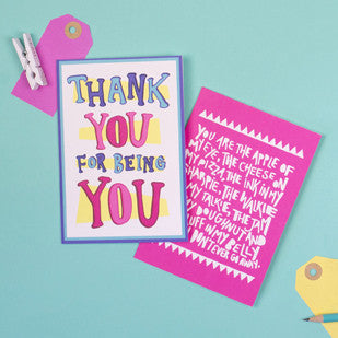 Thank You For Being You Greeting Card