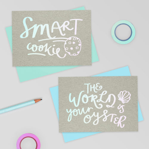 Smart Cookie Holographic Foil Card