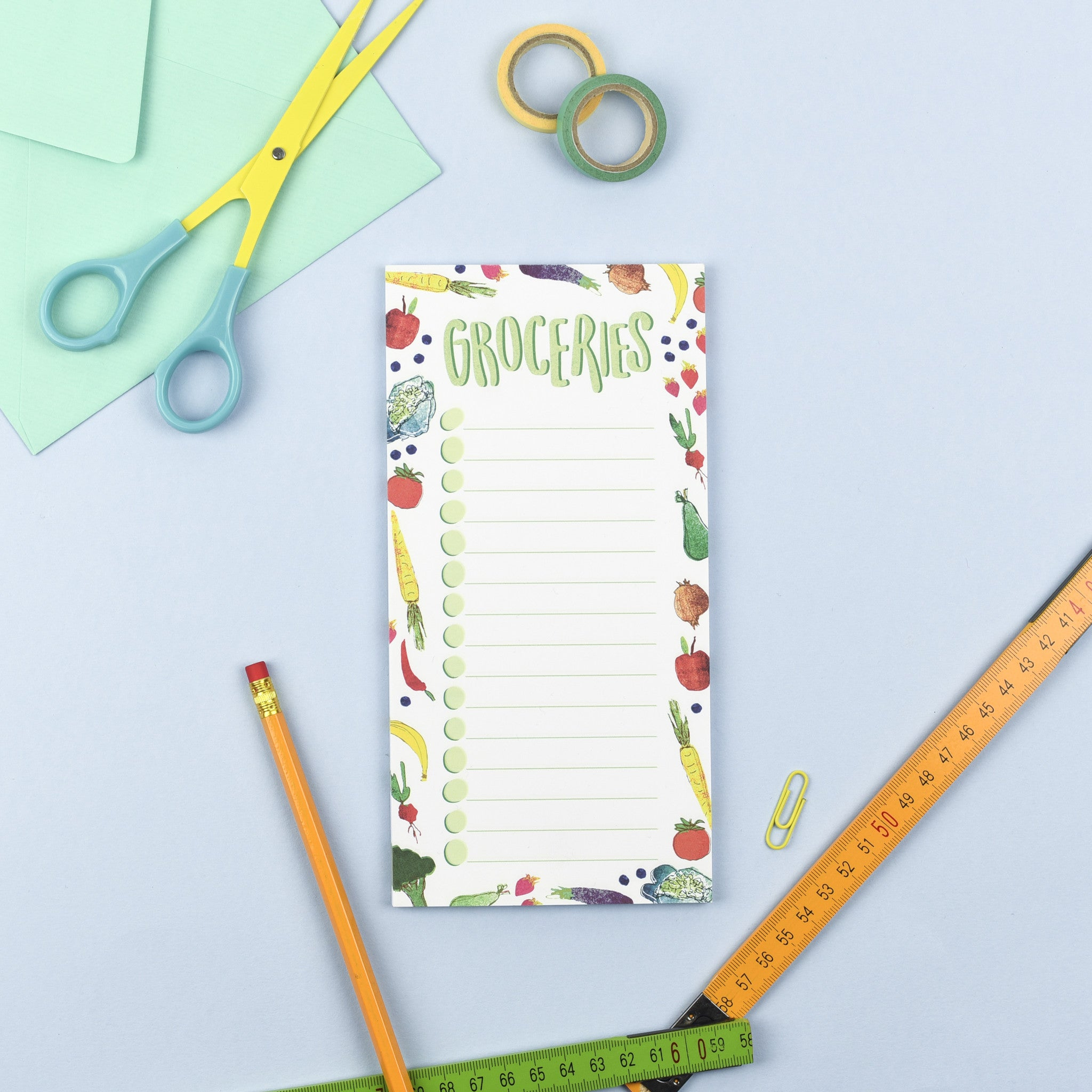 Groceries Magnetic List Note Pad