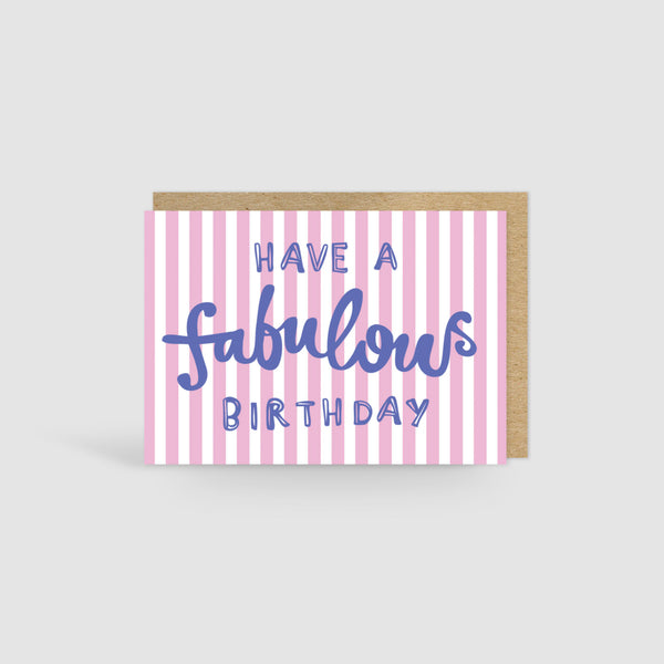 Fabulous Birthday Card