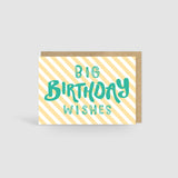 Big Birthday Wishes Card