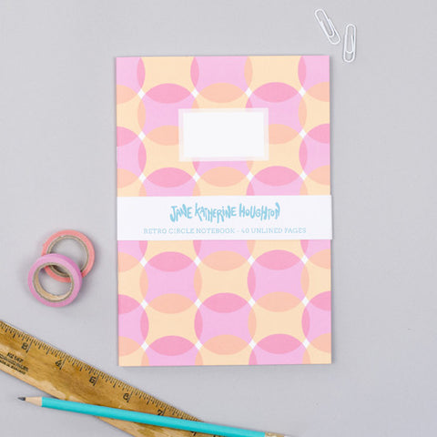 Retro Circles Notebook
