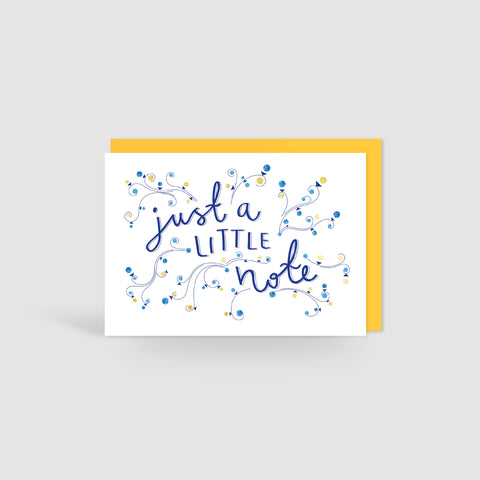 Gold Foil Little Note Card