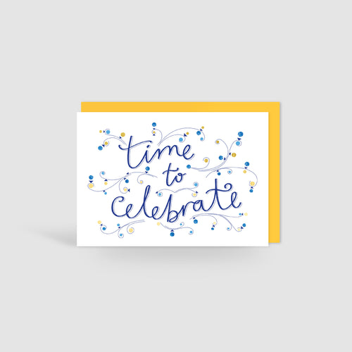 Gold Foil Celebration Invitation Card