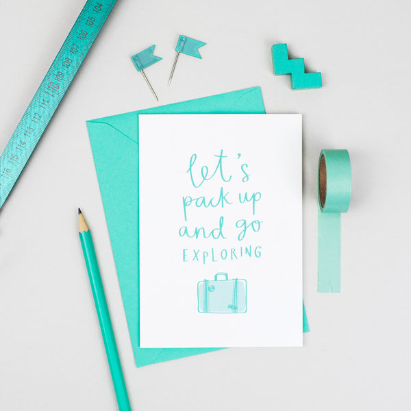 'Let's Go Exploring' Card