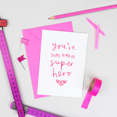 'Some Kind of Superhero' Card