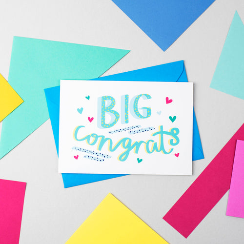 Big Congrats Speak Easy Card