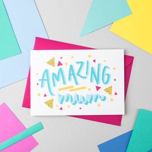 Amazing Mum! Speak Easy Card