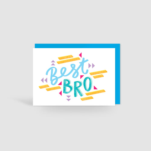 Best Bro! Speak Easy Card