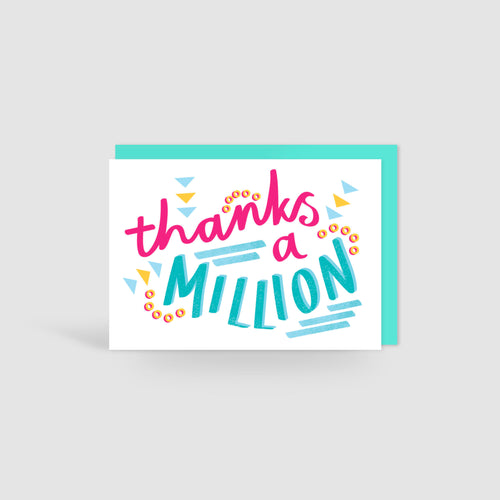 Thanks a Million! Speak Easy Card