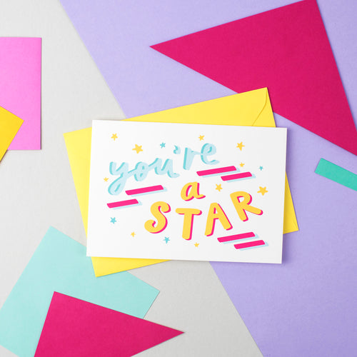You're a Star! Speak Easy Card