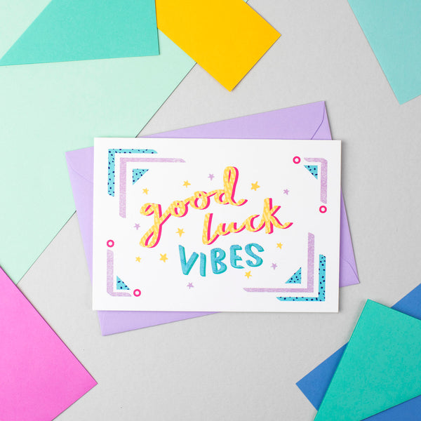 Good Luck Vibes! Card