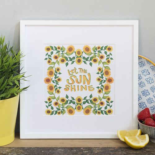 Let the Sun Shine Print
