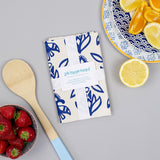 Floral Navy Tea Towel
