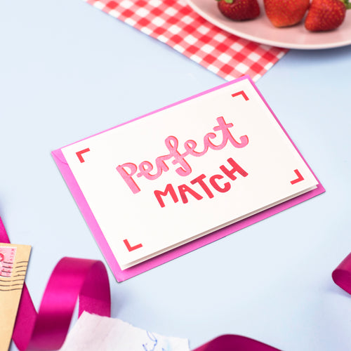 Perfect Match Valentines Card