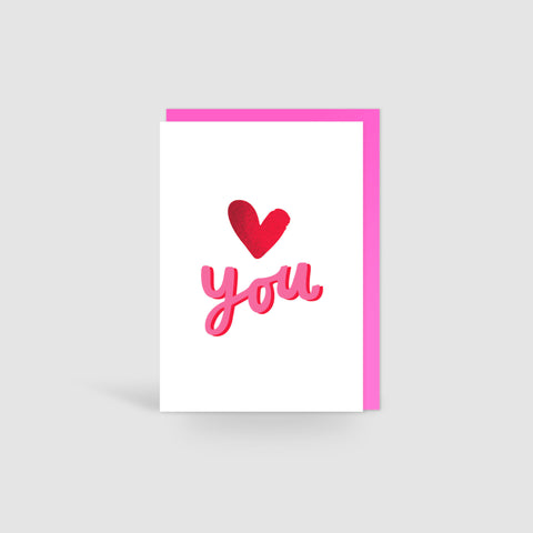 Love You Valentines Card
