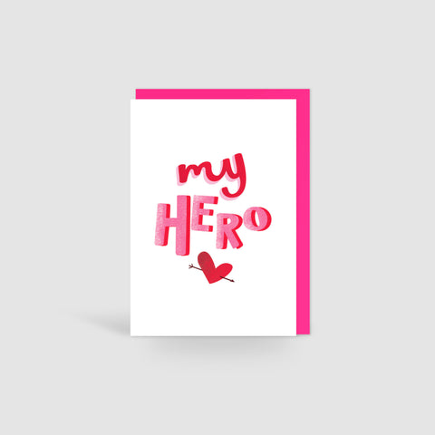 My Hero Valentines Card