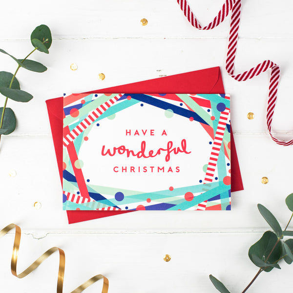 Wonderful Christmas! Festive Cheer Christmas Card