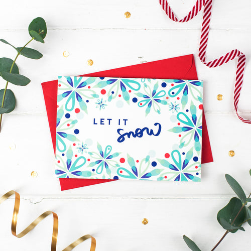 Let it Snow! Festive Cheer Christmas Card
