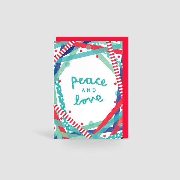 Peace & Love! Festive Cheer Christmas Card