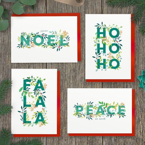 Pack of Holly Jolly Christmas Cards
