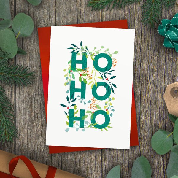Ho Ho Ho! Holly Jolly Christmas Card