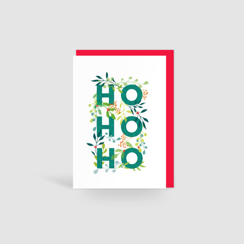 Ho Ho Ho Holly Jolly Christmas Card