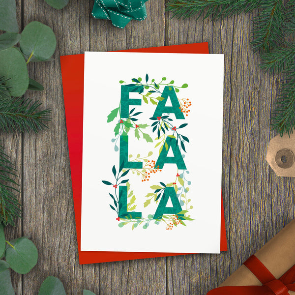 Fa La La! Holly Jolly Christmas Card