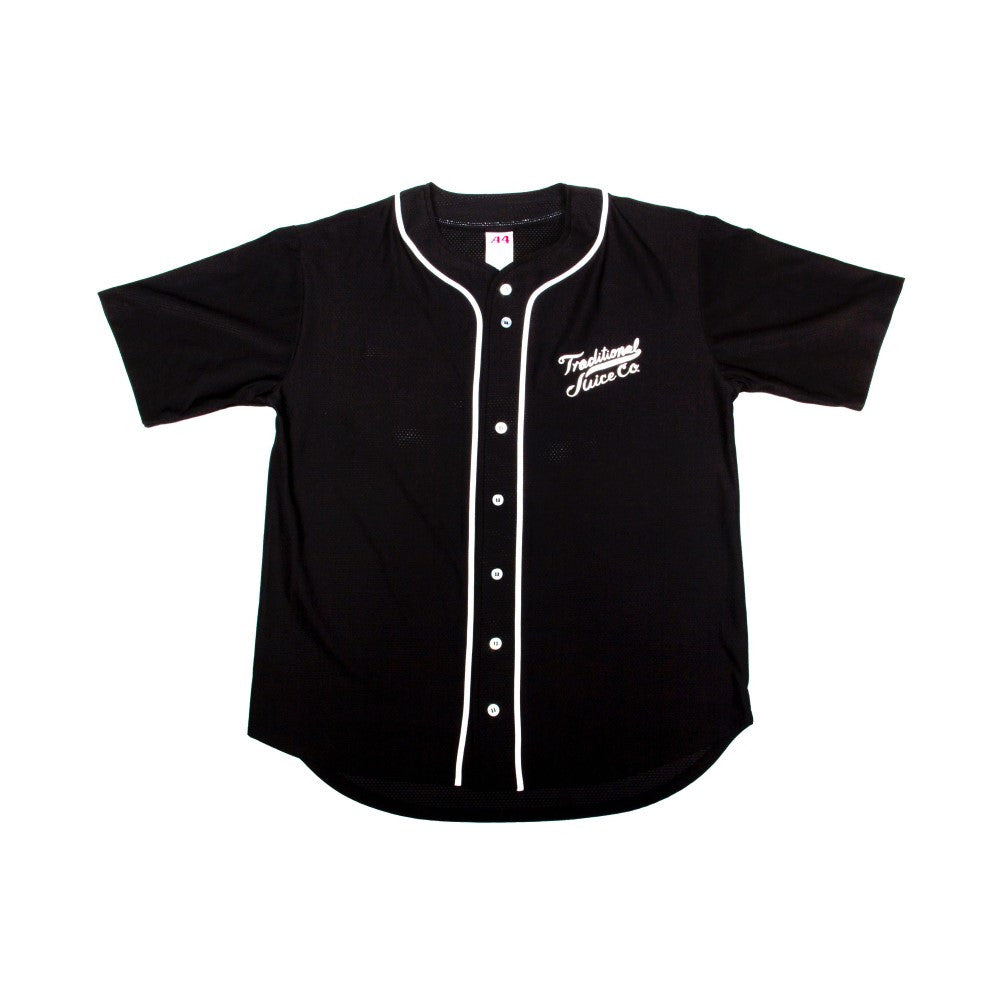 Traditional Juice Co Baseball Jersey black front