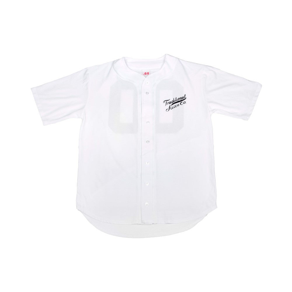 Traditional Juice Co Baseball Jersey white front
