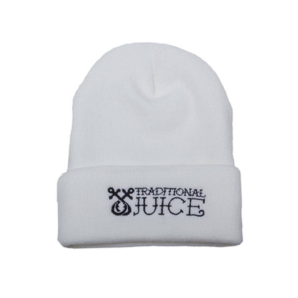 Traditional Juice Co Beanie White