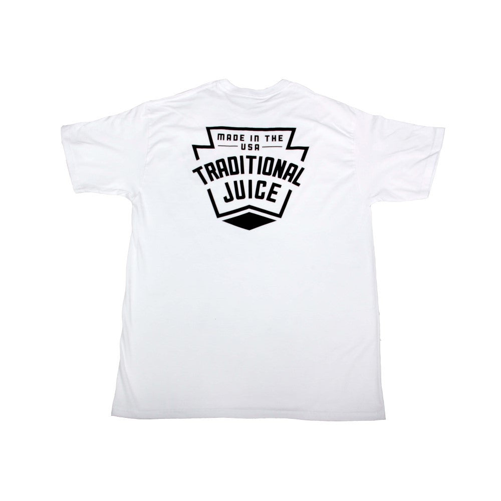 Traditional Juice Co Keystone T-Shirt white back