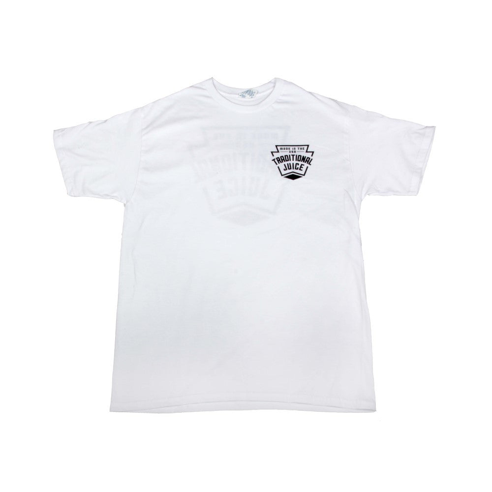 Traditional Juice Co Keystone T-Shirt white front