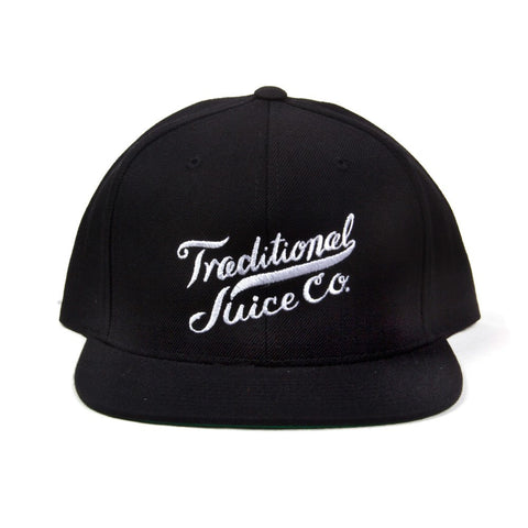Traditional Juice Co Snapback Script Style black