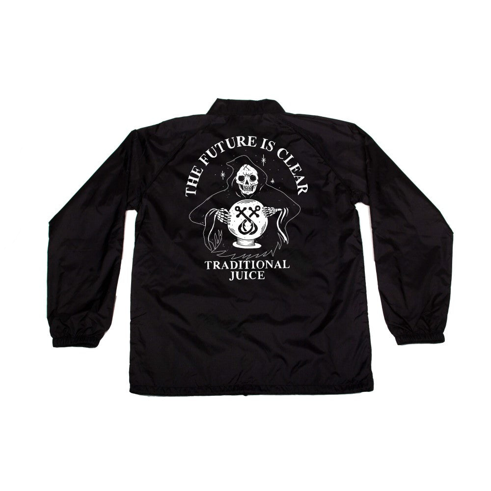 Traditional Juice Co Windbreaker Reaper Black back