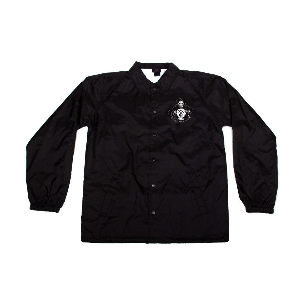 Traditional Juice Co Windbreaker Reaper Black front
